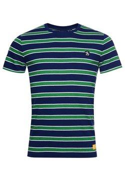 Superdry - COLLEGIATE APPLIQUE - T-Shirt print - neptune blue stripe