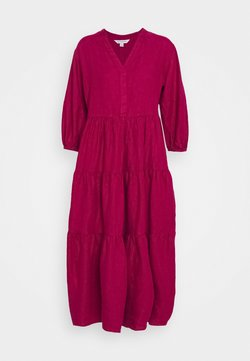Marks & Spencer London - TIERED DRESS - Maxikleid - berry