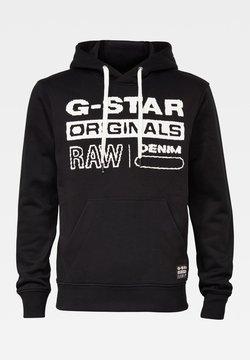 G-Star - ORIGINALS HOODED SW L\S DK BLACK MEN - Sweat à capuche - dk black