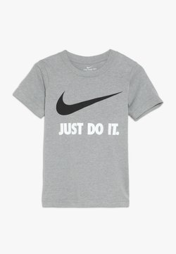 Nike Sportswear - TEE - T-Shirt print - dark grey heather/white