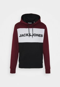 Jack & Jones - JJELOGO BLOCKING HOOD  - Kapuzenpullover - port royale