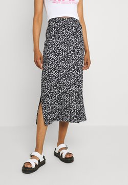Even&Odd - BASIC Midaxi skirt - Maxirock - black/white