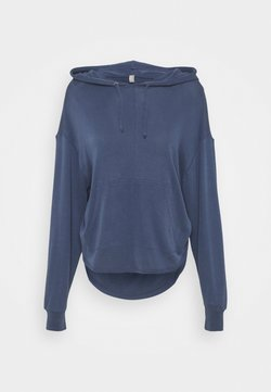 Free People - BACK INTO IT HOODIE - Jersey con capucha - eight count navy
