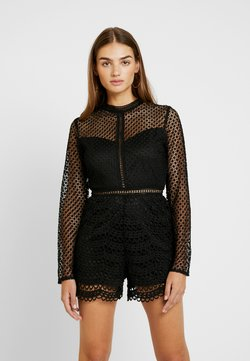Missguided - FRIDAY LONG SLEEVED PLAYSUIT - Combinaison - black