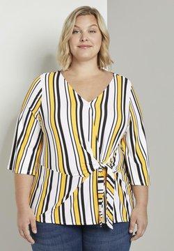 MY TRUE ME TOM TAILOR - WRAP - Langarmshirt - black yellow stripe