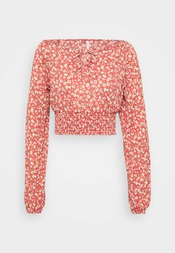 ONLY - ONLPELLA BOW - Langarmshirt - mineral red