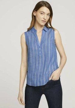 TOM TAILOR - ÄRMELLOSE MIT STREIFEN - Bluse - blue stripe vertical