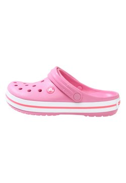 Crocs - CROCBAND RELAXED FIT - Pantolette flach - pink lemonade / white