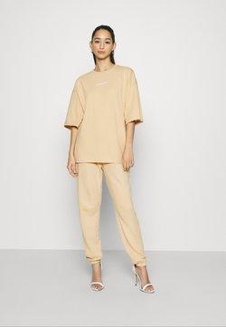 Missguided - OVERSIZED SET - T-Shirt print - beige