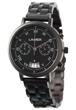 LAIMER - LAIMER QUARZ HOLZUHR - ANALOGE ARMBANDUHR LUCIO - Chronograph - black
