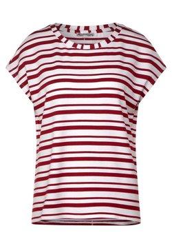 Street One - FEINEN STREIFEN - T-Shirt print - rot