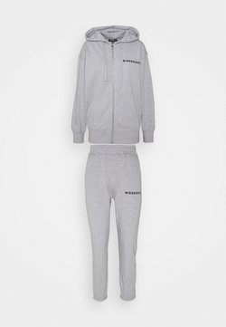 Missguided Petite - HOODIE AND JOGGER SET - Sweatjacke - grey