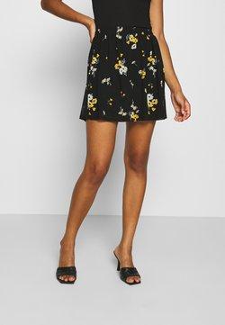 Even&Odd - BASIC - Mesh mini skirt - Jupe trapèze - black/multi-coloured