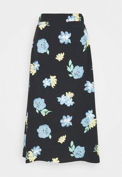 Glamorous Tall - LADIES SKIRT PAINTERLY FLOWER - Bleistiftrock - black