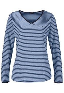 H.I.S - Nachtwäsche Shirt - blau marine