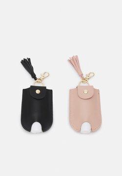Even&Odd - HAND SANITIZER  KEYRING 2 PACK - Portachiavi - black/pink