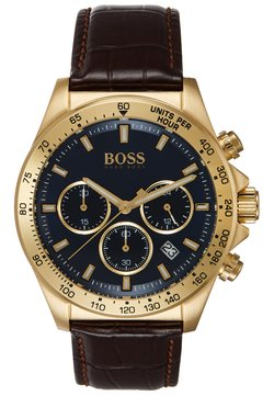 BOSS - Montre à aiguilles - brown/gold-coloured