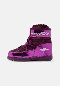 KangaROOS - K-MOON - Snowboot/Winterstiefel - dark berry/frost pink