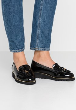 Simply Be - WIDE FIT FLATFORM LOAFER - Instappers - black