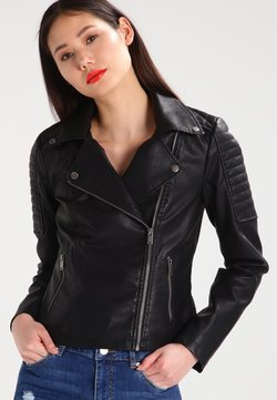Noisy May - NMREBEL - Kunstlederjacke - black