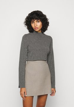Repeat - SWEATER - Stickad tröja - med grey