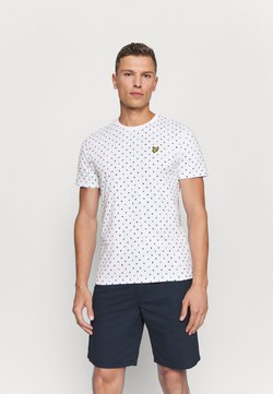Lyle & Scott - FLAG - T-shirt print - white