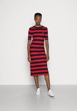 GANT - STRIPED DRESS - Jerseykleid - bright red