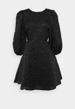 NA-KD - OPEN BACK TIE DRESS - Juhlamekko - black