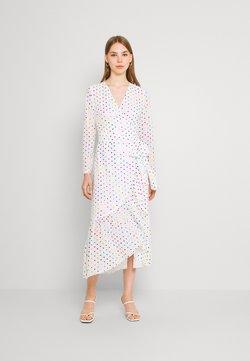 Never Fully Dressed - RAINBOW SPOT WRAP DRESS - Freizeitkleid - white