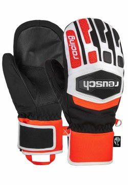 Reusch - Fäustling - black/white/fluo red