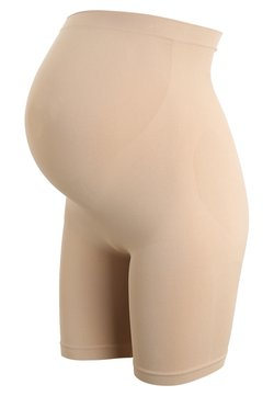 JoJo Maman Bébé - MATERNITY DUAL SUPPORT SLIMMING SHORTS - Panties - almond