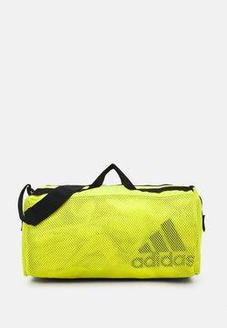 adidas Performance - DUFFEL  - Sports bag - acid yellow/black