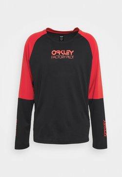 Oakley - SWITCHBACK TRAIL TEE - Langarmshirt - blackout