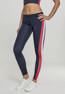 Urban Classics - Leggings - Hosen - navy/red/white
