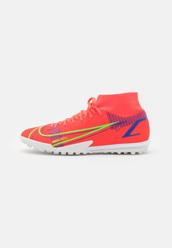 Nike Performance - MERCURIAL 8 ACADEMY TF - Astro turf trainers - bright crimson/metallic silver
