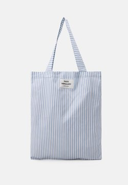 Mads Nørgaard - SACKY ATOMA - Shopping bag - forever blue/off white