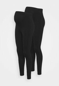 Missguided Maternity - 2 PACK  - Leggings - black
