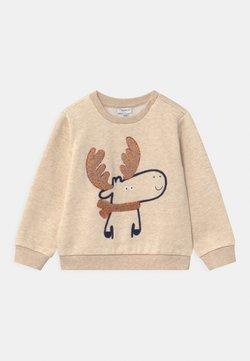 OVS - ROUND NECK APPLIQUE - Sweater - mottled beige