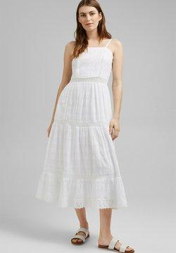 Esprit - DOBBY  - Vestido informal - white