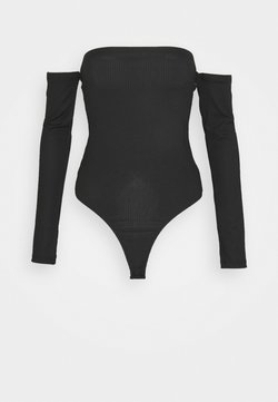 Missguided Tall - BARDOT BODYSUIT - Langarmshirt - black