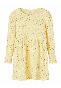 Name it - GEPUNKTETES RIPPDESIGN - Korte jurk - sunlight