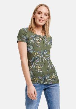 Taifun - T-Shirt print - botanical green gemustert