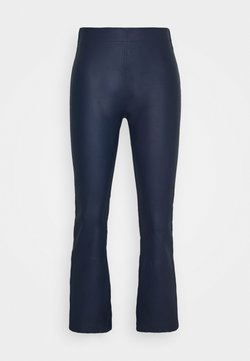 InWear - CEDAR PANT - Leather trousers - ink blue