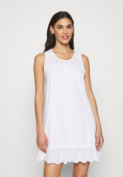 Lauren Ralph Lauren - SHORT NIGHTGOWN - Nachthemd - white