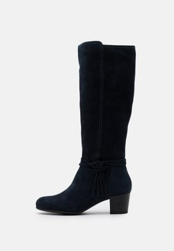 Anna Field Wide Fit - LEATHER - Boots - dark blue