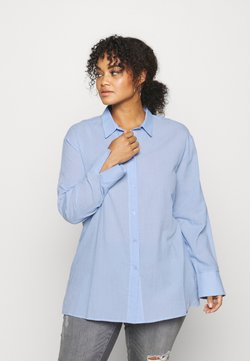 NU-IN - OVERSIZED BUTTON UP  - Bluser - blue