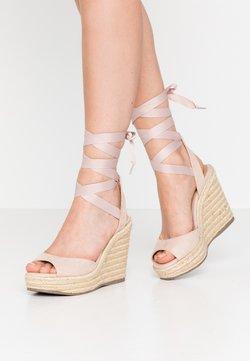 New Look - PADY TIE UP WEDGE - Korolliset sandaalit - oatmeal