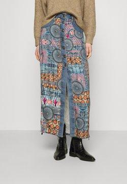 Desigual - AFRICAN - Falda larga - blue