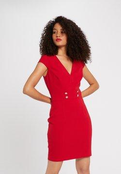 Morgan - WITH DECORATIVE BUTTONS - Vestido de tubo - red