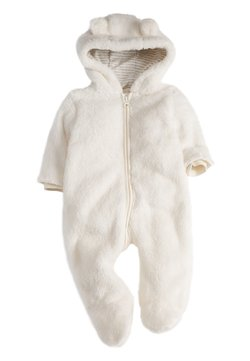 Next - ECRU COSY FLEECE BEAR PRAMSUIT (0MTHS-2YRS) - Jumpsuit - off-white